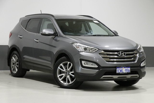 Used Hyundai Santa Fe DM Elite CRDi (4x4), 2014 Hyundai Santa Fe DM Elite CRDi (4x4) Grey 6 Speed Automatic Wagon