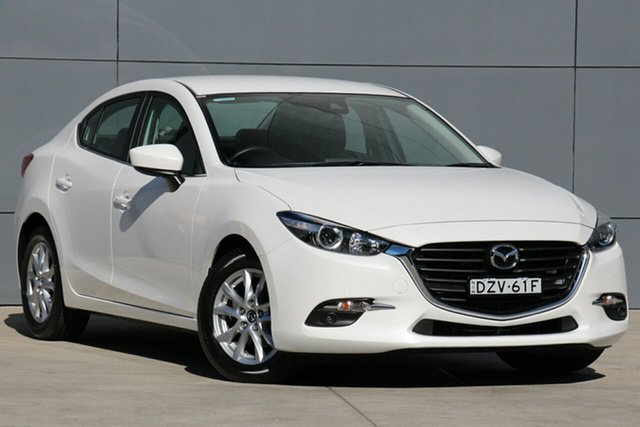 Demo Mazda 3 BN5278 Touring SKYACTIV-Drive, 2018 Mazda 3 BN5278 Touring SKYACTIV-Drive Snowflake White 6 Speed Sports Automatic Sedan