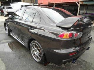 2012 Mitsubishi Lancer CJ MY12 Evolution MR Black 6 Speed Direct Shift Sedan.