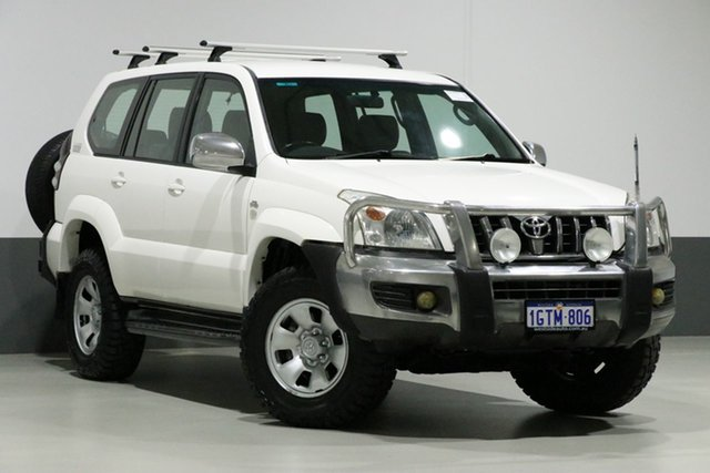 Used Toyota Landcruiser Prado KDJ120R 07 Upgrade GX (4x4), 2008 Toyota Landcruiser Prado KDJ120R 07 Upgrade GX (4x4) White 6 Speed Manual Wagon