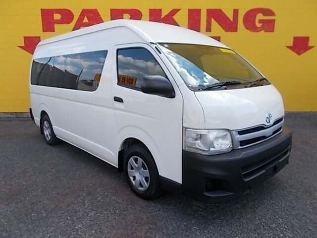 Used Toyota HiAce KDH223R MY12 Commuter High Roof Super LWB, 2013 Toyota HiAce KDH223R MY12 Commuter High Roof Super LWB White 4 Speed Automatic Bus