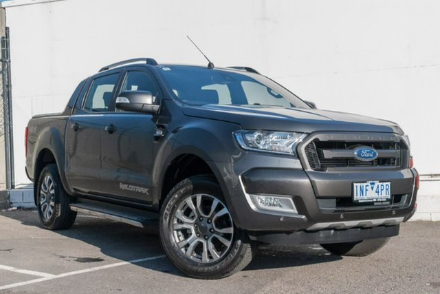 Used Ford Ranger PX MkII 2018.00MY Wildtrak Double Cab, 2018 Ford Ranger PX MkII 2018.00MY Wildtrak Double Cab Grey 6 Speed Manual Utility