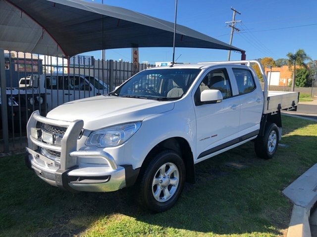 Used Holden Colorado RG MY16 LS (4x4), 2015 Holden Colorado RG MY16 LS (4x4) White 6 Speed Automatic Crew Cab Chassis