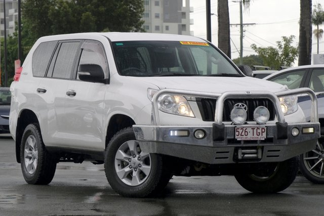 Used Toyota Landcruiser Prado KDJ150R GX, 2013 Toyota Landcruiser Prado KDJ150R GX White 5 Speed Sports Automatic Wagon