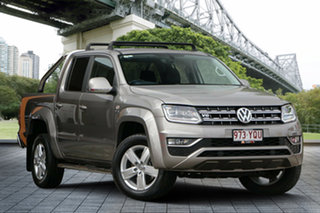 2017 Volkswagen Amarok 2H MY17 TDI550 4MOTION Perm Highline Beige 8 Speed Automatic Utility.