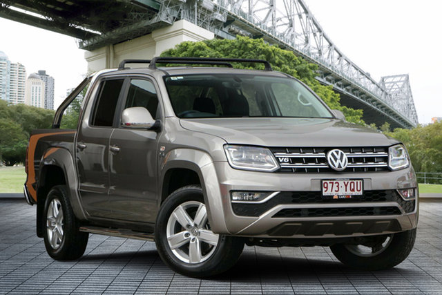Used Volkswagen Amarok 2H MY17 TDI550 4MOTION Perm Highline, 2017 Volkswagen Amarok 2H MY17 TDI550 4MOTION Perm Highline Beige 8 Speed Automatic Utility