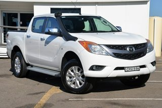 2013 Mazda BT-50 UP0YF1 GT White 6 Speed Manual Utility.