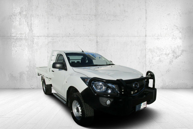 Used Mazda BT-50 UR0YF1 XT, 2016 Mazda BT-50 UR0YF1 XT White 6 Speed Manual Cab Chassis