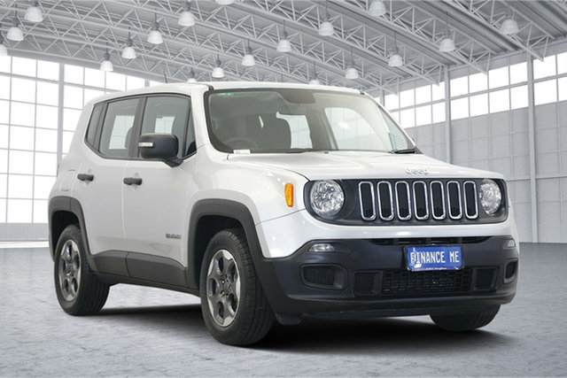 Used Jeep Renegade BU MY16 Sport DDCT, 2016 Jeep Renegade BU MY16 Sport DDCT Glacier White 6 Speed Sports Automatic Dual Clutch Hatchback