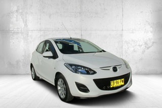 2014 Mazda 2 DE10Y2 MY14 Neo Sport White 4 Speed Automatic Hatchback.