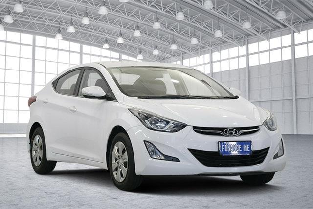 Used Hyundai Elantra MD3 Active, 2015 Hyundai Elantra MD3 Active White 6 Speed Sports Automatic Sedan
