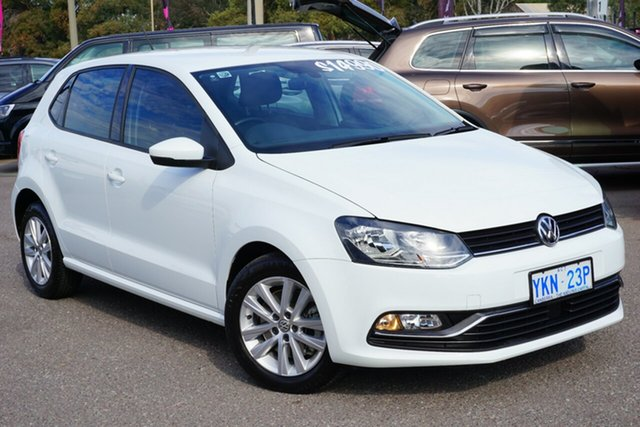 Used Volkswagen Polo 6R MY15 81TSI DSG Comfortline, 2015 Volkswagen Polo 6R MY15 81TSI DSG Comfortline Pure White 7 Speed Sports Automatic Dual Clutch