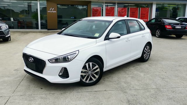 Demo Hyundai i30 PD MY19 Go, 2018 Hyundai i30 PD MY19 Go Polar White 6 Speed Sports Automatic Hatchback