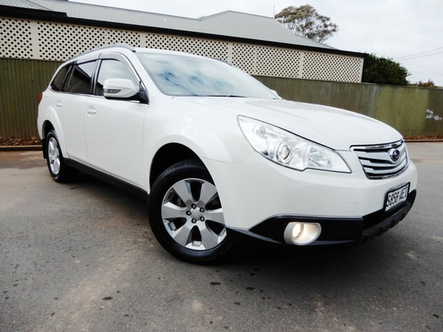 Used Subaru Outback B5A MY10 2.5i AWD, 2009 Subaru Outback B5A MY10 2.5i AWD White 6 Speed Manual Wagon