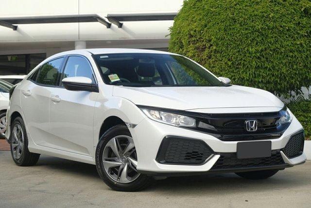 New Honda Civic 10th Gen MY19 VTi, 2019 Honda Civic 10th Gen MY19 VTi Platinum White 1 Speed Constant Variable Hatchback