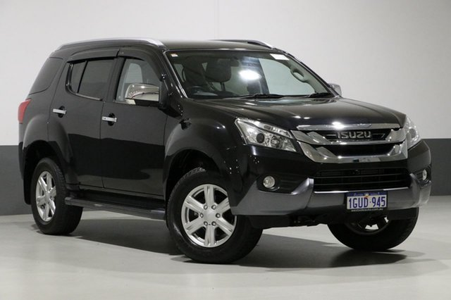 Used Isuzu MU-X UC MY15.5 LS-T (4x4), 2016 Isuzu MU-X UC MY15.5 LS-T (4x4) Black 5 Speed Automatic Wagon