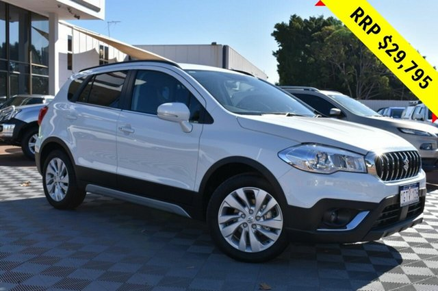 Demo Suzuki S-Cross JY Turbo, 2019 Suzuki S-Cross JY Turbo Cool White 6 Speed Sports Automatic Hatchback
