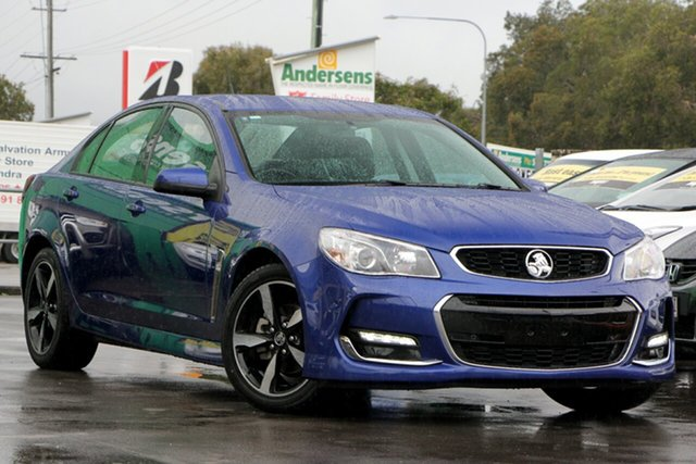 Used Holden Commodore VF II MY17 SV6, 2017 Holden Commodore VF II MY17 SV6 Blue 6 Speed Sports Automatic Sedan