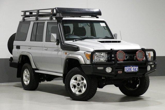 Used Toyota Landcruiser VDJ76R MY18 GXL (4x4), 2018 Toyota Landcruiser VDJ76R MY18 GXL (4x4) Silver 5 Speed Manual Wagon