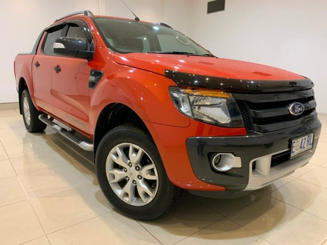 Used Ford Ranger PX Wildtrak Double Cab, 2015 Ford Ranger PX Wildtrak Double Cab Orange 6 Speed Sports Automatic Utility