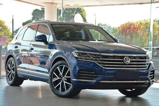 New Volkswagen Touareg CR MY19 190TDI Tiptronic 4MOTION Launch Edition, 2019 Volkswagen Touareg CR MY19 190TDI Tiptronic 4MOTION Launch Edition Reef Blue Metallic 8 Speed