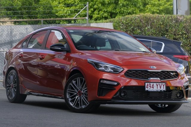 New Kia Cerato BD MY19 GT DCT, 2019 Kia Cerato BD MY19 GT DCT Sunset Orange 7 Speed Sports Automatic Dual Clutch Sedan