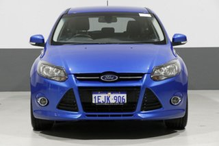 2013 Ford Focus LW MK2 Sport Blue 6 Speed Automatic Hatchback.