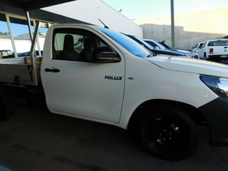 2015 Toyota Hilux TGN121R Workmate White 5 Speed Manual Cab Chassis.