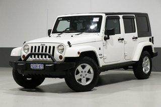2010 Jeep Wrangler Unlimited JK MY09 Sport (4x4) White 4 Speed Automatic Softtop.
