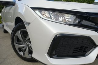 2019 Honda Civic 10th Gen MY19 VTi Platinum White 1 Speed Constant Variable Hatchback