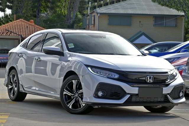 New Honda Civic 10th Gen MY19 RS, 2019 Honda Civic 10th Gen MY19 RS Platinum White 1 Speed Constant Variable Hatchback