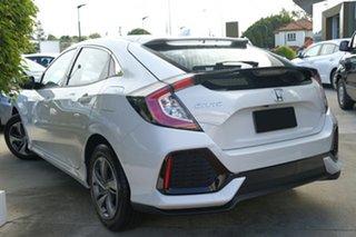 2019 Honda Civic 10th Gen MY19 VTi Platinum White 1 Speed Constant Variable Hatchback.