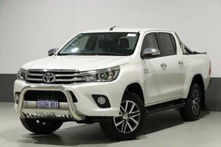 2016 Toyota Hilux GUN126R SR5 (4x4) Pearl White 6 Speed Automatic Dual Cab Utility.