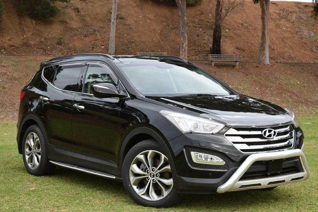 Used Hyundai Santa Fe DM MY13 Highlander, 2013 Hyundai Santa Fe DM MY13 Highlander Black 6 Speed Sports Automatic Wagon