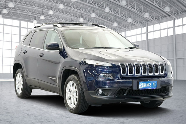 Used Jeep Cherokee KL Longitude, 2014 Jeep Cherokee KL Longitude Blue 9 Speed Sports Automatic Wagon
