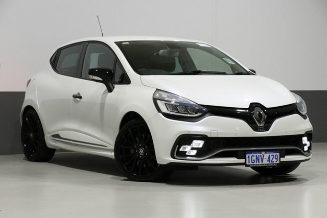 Used Renault Clio B98 RS 200 Cup, 2017 Renault Clio B98 RS 200 Cup Pearl White 6 Speed Auto Dual Clutch Hatchback