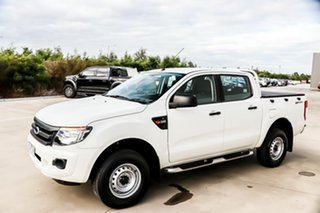 2014 Ford Ranger PX XL Double Cab 4x2 Hi-Rider White 6 Speed Manual Utility.