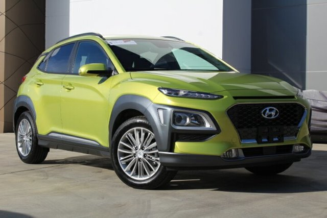 New Hyundai Kona  Elite, 2019 Hyundai Kona Elite Acid Yellow 6 Speed Automatic Hatchback
