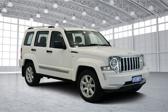 Used Jeep Cherokee KK MY10 Limited, 2010 Jeep Cherokee KK MY10 Limited White 4 Speed Automatic Wagon