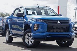 2021 Mitsubishi Triton MR MY21 GLX+ Double Cab Impulse Blue 6 Speed Sports Automatic Utility.