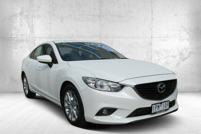Used Mazda 6 GJ1021 Touring SKYACTIV-Drive, 2013 Mazda 6 GJ1021 Touring SKYACTIV-Drive White 6 Speed Sports Automatic Sedan