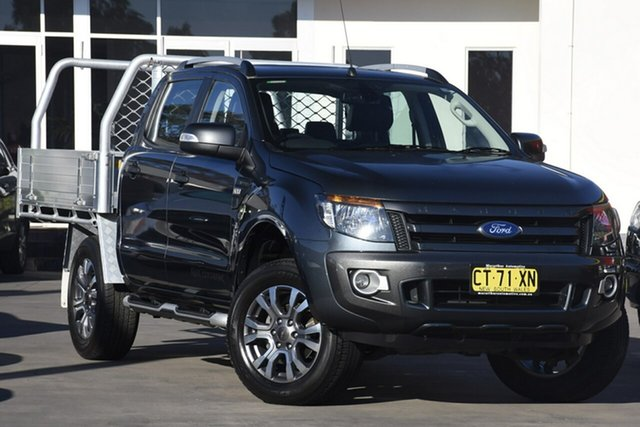 Used Ford Ranger PX MkII Wildtrak Double Cab, 2015 Ford Ranger PX MkII Wildtrak Double Cab Charcoal 6 Speed Sports Automatic Utility