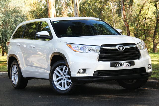 Used Toyota Kluger GSU55R GX AWD, 2015 Toyota Kluger GSU55R GX AWD Crystal Pearl 6 Speed Sports Automatic Wagon