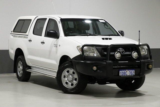 Used Toyota Hilux KUN26R 09 Upgrade SR (4x4), 2009 Toyota Hilux KUN26R 09 Upgrade SR (4x4) White 5 Speed Manual Dual Cab Pick-up