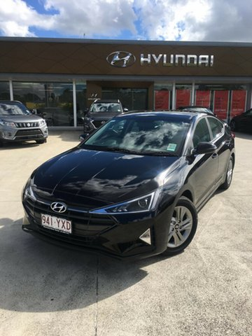 Demo Hyundai Elantra AD.2 MY19 Active, 2019 Hyundai Elantra AD.2 MY19 Active Phantom Black Pearl 6 Speed Sports Automatic Sedan