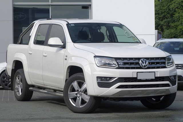 Demo Volkswagen Amarok 2H MY19 TDI550 4MOTION Perm Highline, 2018 Volkswagen Amarok 2H MY19 TDI550 4MOTION Perm Highline Candy White 8 Speed Automatic Utility