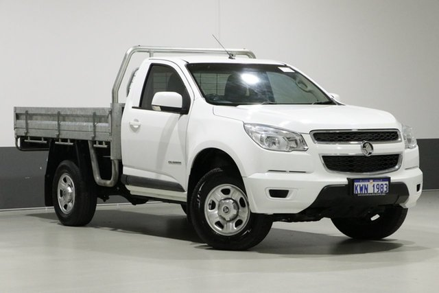 Used Holden Colorado RG MY15 LS (4x2), 2015 Holden Colorado RG MY15 LS (4x2) White 6 Speed Manual Cab Chassis