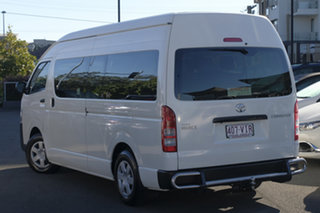 2014 Toyota HiAce KDH223R MY14 Commuter High Roof Super LWB Vanilla White 4 Speed Automatic Bus