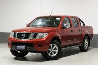 2010 Nissan Navara D40 Series 4 ST-X (4x4) Red 6 Speed Manual Dual Cab Pick-up.