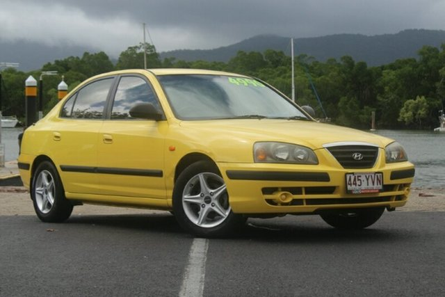 Used Hyundai Elantra XD MY04 Elite, 2003 Hyundai Elantra XD MY04 Elite Yellow 5 Speed Manual Sedan